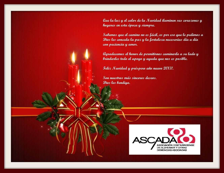 Saludo navidad 2013 ascada alzheimer y otras demencias - Saludos de navidad ...